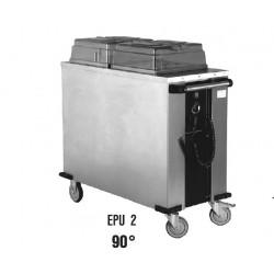 vozík na ohřev nádobí