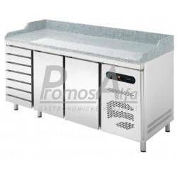 Pizza chladící stůl Asber ETP8-200-27 (7x zásuvka)