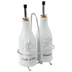 Stojánek pro dochucovací nádobky vinegar a olive 250 ml