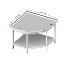 rohový nerez stůl ST 12