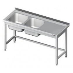 nerez mycí stoly ST 80 s dvoudřezem gastro