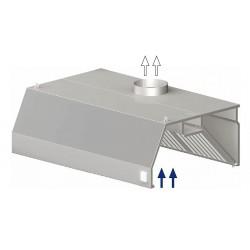 digestoř nástěná ST 207 - trapéz, 1000 mm