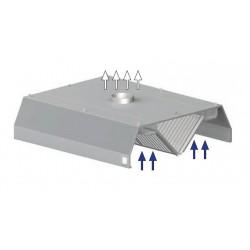 digestoř prostorová ST 210 - trapez, 1600 mm