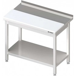 stůl s bílou krájecí deskou a policí ST 059