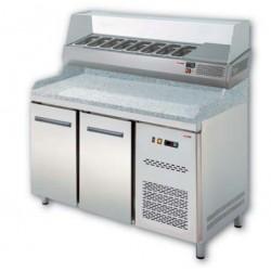chlazený stůl na pizzu RTP 2D s nadestavbou