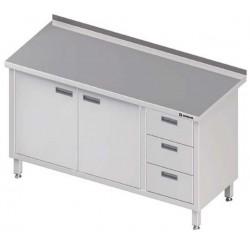 stůl 3 zásuvky, 2 křídlová dvířka ST 044 (045)